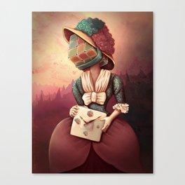 Lady Rubik Canvas Print
