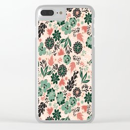 Succulent flowerbed Clear iPhone Case