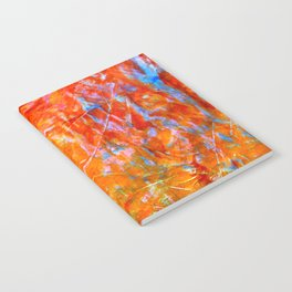 Abstract with Circle in Gold, Red, and Blue Notebook