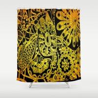 zen Shower Curtains featuring zen by mayrarosito