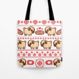 Puglie Christmas Sweater (Red) Tote Bag