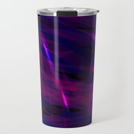 Rich purple and smooth sparkling lines of blueberry ribbons on the theme of space and abstraction. Travel Mug