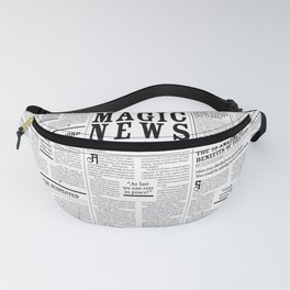 The Daily Mage Fantasy Newspaper Fanny Pack