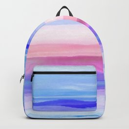 New World Horizon in Shades of Blue, Lilac and Pink Backpack