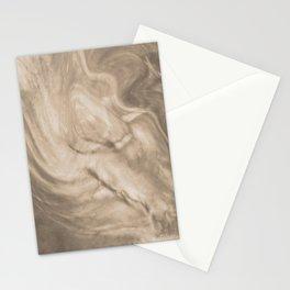 Pantone Hazelnut Flowing Pearlescent Haze, Opalescent Fluid Art Stationery Cards