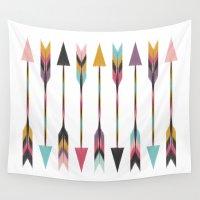 bohemian Wall Tapestries featuring Bohemian Arrows by Bohemian Gypsy Jane