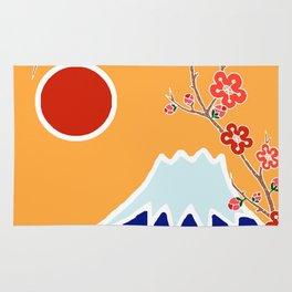 Mount Fuji and Sun Rise Rug