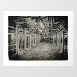 COMMUTERS IN NEW YORK CITY (Old plate camera) Art Print