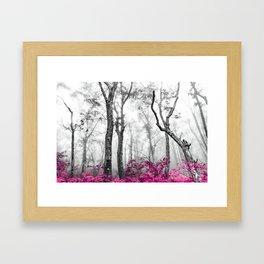 Princess Pink Forest Garden Framed Art Print