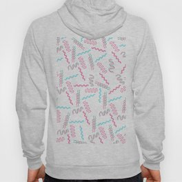 Geometrical retro pink teal 80's abstract pattern Hoody