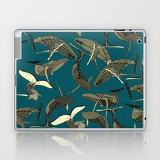 just whales blue Laptop & iPad Skin