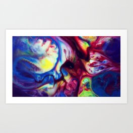 Fluid Color Art Print