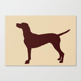 Vizsla Dog Print Canvas Print