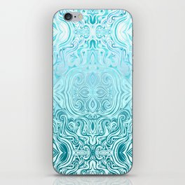 Twists & Turns in Turquoise & Teal iPhone Skin
