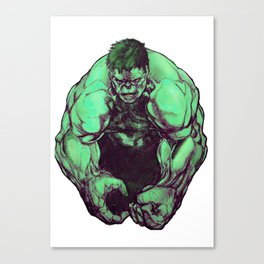 Not-So-Jolly Green Giant Canvas Print