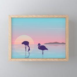 Flamingo Silhouette Beauty Art Framed Mini Art Print