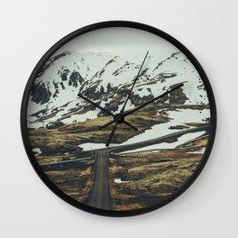 iceland road trip Wall Clock