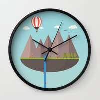 wwe Wall Clocks featuring Flat island  by eARTh