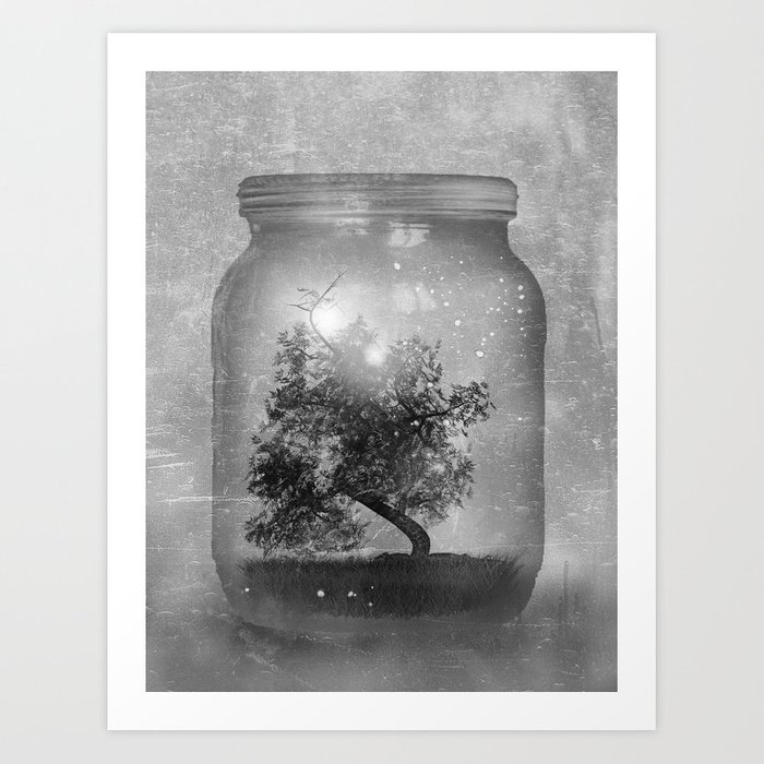 Black and White - Saving Nature Art Print