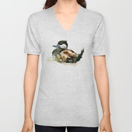 Ruddy Duck, duck children illustration, cute duck artwork Unisex V-Neck