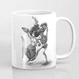 Dancing Mermaid and Skeleton Coffee Mug