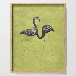 Halloween Flamingos Serving Tray