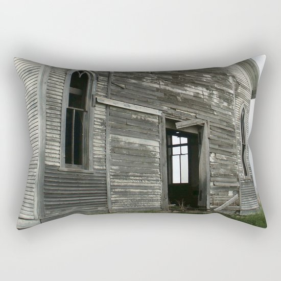 Abandoned Church Rectangular Pillow