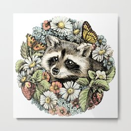 Summer raccoon Metal Print