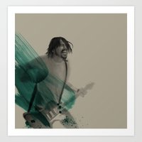 dave grohl Art Prints featuring Dave Grohl by D Cisneros