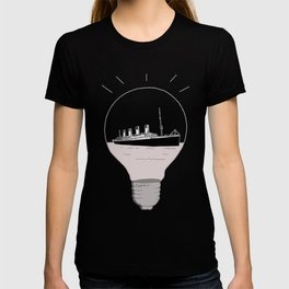 Ship in a light bulb. Home decor Graphicdesign T-shirt