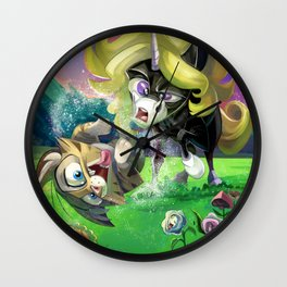 Meow In Theatres Wall Clock