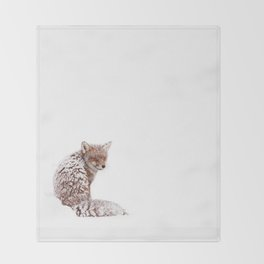 A Fox Fantasy (Red Fox in the snow)  Throw Blanket
