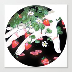 Strawberry Fingers Canvas Print