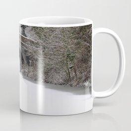 Snowing on the canal Coffee Mug
