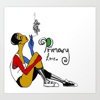 Love in Primary Color Art Print