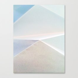 Into a Blue as Pale as Paper Canvas Print