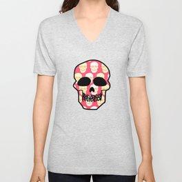 Skull pattern Unisex V-Neck