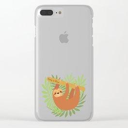 Sloth-y Days Clear iPhone Case