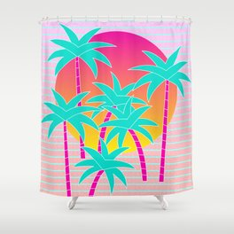 Hello Miami Sunset Shower Curtain