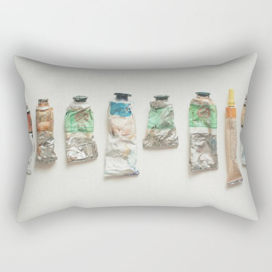 Oil Paints Rectangular Pillow
