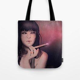 Smokey Woman Tote Bag