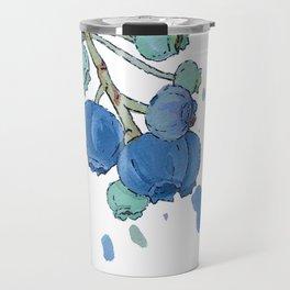 Blueberry Splatter Travel Mug