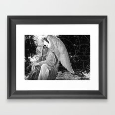 A Very Old Man with Enormous Wings Framed Art Print