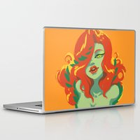 poison ivy Laptop & iPad Skins featuring Poison Ivy by Piano Bandit
