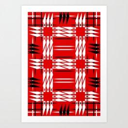 Buffalo Factory – Xacto Blade Blanket Art Print
