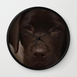 Cute Lab Puppy Wall Clock