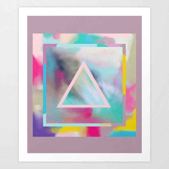 Rose Triangle Manifestation Art Print