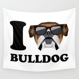 I Love Bulldog modern v1 Wall Tapestry