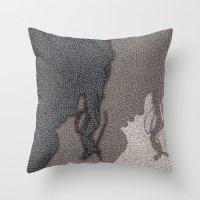 shadow Throw Pillows featuring Shadow by dominiquelandau
