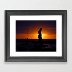 The empty world (Flic en Flac)  Framed Art Print
